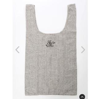 サマンサモスモス(SM2)のSM2 コットンリネンsh刺繍マルシェバッグL (ベージュ) サマンサモスモス(エコバッグ)
