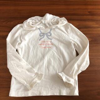 コンビミニ(Combi mini)のコンビミニ 長袖 Tシャツ カットソー 100  白 ロンT(Tシャツ/カットソー)
