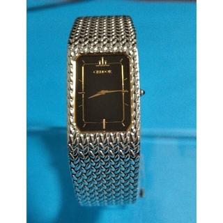 セイコー(SEIKO)の人気モデル 稼働品 セイコ グレドール メンズ腕時計  ブラック文字盤 希少品(腕時計(アナログ))