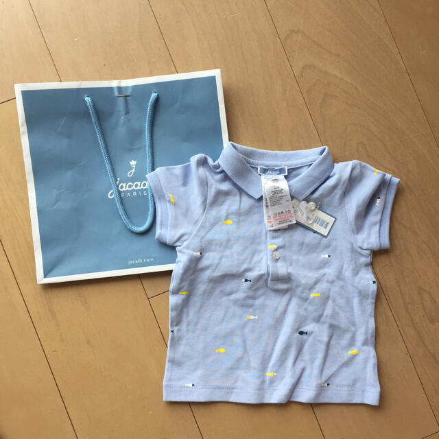 Jacadi(ジャカディ)の新品未使ジャカディ  ポロシャツ キッズ/ベビー/マタニティのベビー服(~85cm)(シャツ/カットソー)の商品写真
