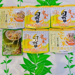 カゴメ(KAGOME)の(訳あり)アルファー食品 安心米&カゴメ 野菜たっぷり豆のスープ(インスタント食品)