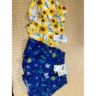 ニシマツヤ(西松屋)の新品未使用 花柄ショートパンツ(パンツ)
