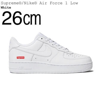 シュプリーム(Supreme)の26㎝ Supreme / Nike Air Force 1 Low White(スニーカー)