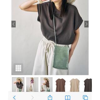 グレイル(GRL)のUSAコットンフレンチスリーブTシャツ(Tシャツ(半袖/袖なし))