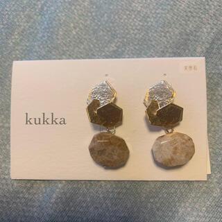 クッカ(kukkA)のkukka 天然石ピアス(ピアス)