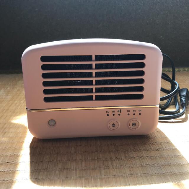 DOSHISHA セラミックヒーター ピンク スマホ/家電/カメラの冷暖房/空調(電気ヒーター)の商品写真