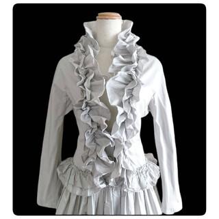 エルマンノシェルヴィーノ(ERMANNO SCHERVINO)のSALE🌹ERMANNO SCHERVINO🌹贅沢フリルのドレスコート(トレンチコート)