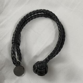 ボッテガヴェネタ(Bottega Veneta)のボッテガ ブレスレット 黒革(ブレスレット/バングル)