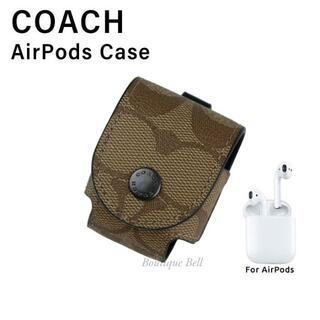 コーチ(COACH)の【COACH】コーチ シグネチャー AirPods ケース カーキ(モバイルケース/カバー)