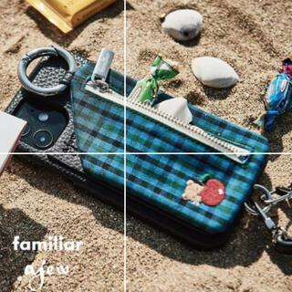ファミリア(familiar)のfamiliar×ajew ブルー XR.11用(iPhoneケース)
