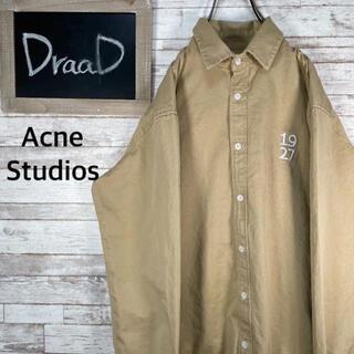 アクネ(ACNE)のアクネストゥディオズ 刺繍 デザイン 長袖シャツ ベージュ M(ブルゾン)
