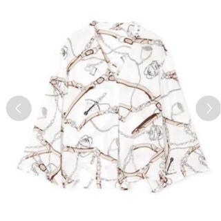 ピンキーアンドダイアン(Pinky&Dianne)の美品 ピンキーアンドダイアン スカーフ柄 ブラウス(シャツ/ブラウス(長袖/七分))