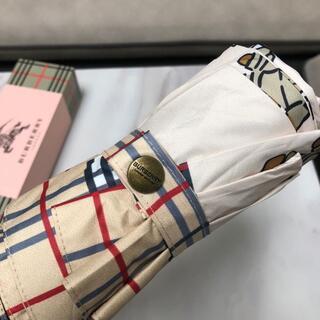 BURBERRY - ☆Burberryバーバリー 折りたたみ傘 折り畳み傘 超撥水 收纳ケース付き☆