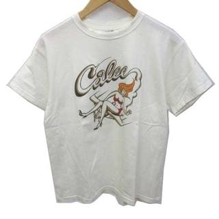 キャリー(CALEE)のキャリー Tシャツ 半袖 LADY 飛行機 クルーネック プリント コットン L(Tシャツ/カットソー(半袖/袖なし))
