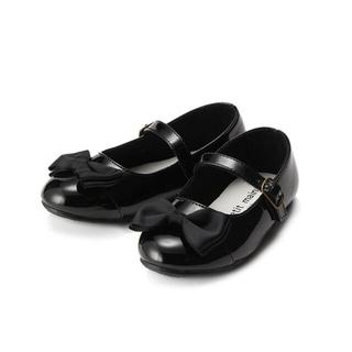 petit main - プティマイン リボン付きパンプス 黒色 19cm 定価3132円