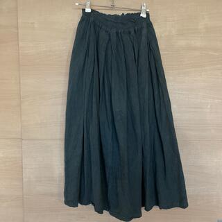 IDEE - ヂェン先生の日常着 膝下スカート 黒