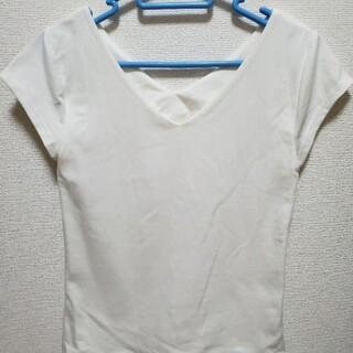 ロイヤルパーティー(ROYAL PARTY)のROYALPARTY フレンチスリーブ 新品タグ付き キレイめTシャツ(Tシャツ(半袖/袖なし))