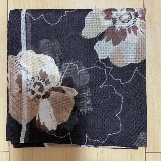 U.P renoma(ユーピーレノマ)のレノマ ハンカチ 黒 レディースのファッション小物(ハンカチ)の商品写真