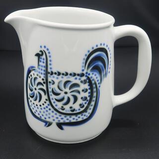 アラビア(ARABIA)のARABIA カイフランク ピッチャー ジャグ ニワトリ 北欧(陶芸)