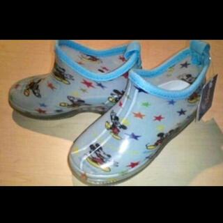 ディズニー(Disney)の新品 ディズニーミッキー♪レインブーツ 雨長靴 17cm(長靴/レインシューズ)