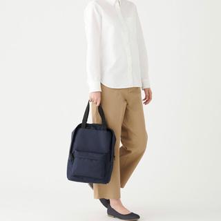 ムジルシリョウヒン(MUJI (無印良品))の無印良品 手提げとしても使えるリュックサック・A4サイズ ネイビー (バッグ)