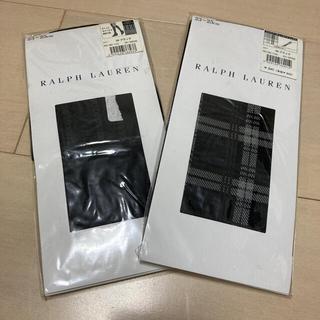 Ralph Lauren - 新品♡ ラルフローレン ハイソックス ニーハイ 黒色 チェック 2点セット