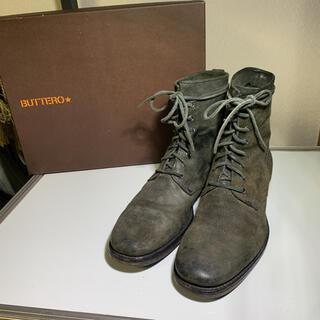 ブッテロ(BUTTERO)の美品 BUTTERO ブッテロ レースアップブーツ   カーキ サイズ41(ブーツ)