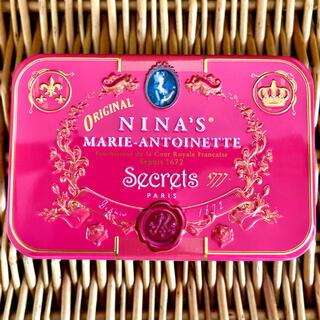 NINA'S ☆ Royal box for tea テデアンジュ レッド缶(茶)