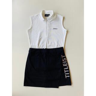 タイトリスト(Titleist)のタイトリストゴルフウエアノースリーブシャツゴルフスカート セット (ウエア)