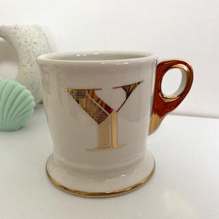 アンソロポロジー(Anthropologie)のイニシャル マグカップ Y(グラス/カップ)