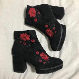 H&M - H&M boots shoes ブーツ 花柄