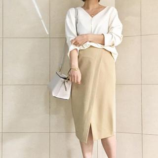 ラウンジドレス(Loungedress)のLoungedress クロスタイトスカート ベージュ(ひざ丈スカート)