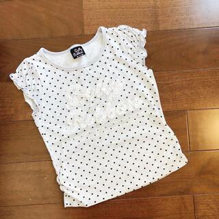 メゾピアノ(mezzo piano)のドーリーリボン Tシャツ  サイズ 110cm(Tシャツ/カットソー)