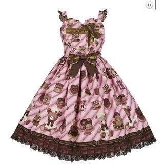 アンジェリックプリティー(Angelic Pretty)のBear's Chocolaterieジャンパースカート(ひざ丈ワンピース)
