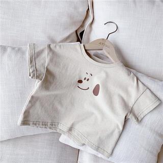 フタフタ(futafuta)のスヌーピー風Tシャツ半袖 /80 90 100 夏 男の子 女の子 韓国子供服(Tシャツ/カットソー)