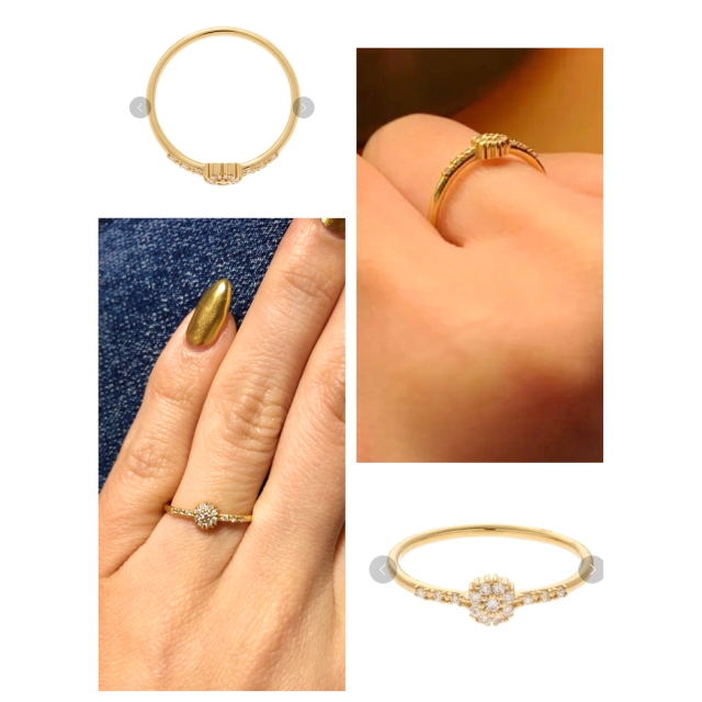 COCOSHNIK(ココシュニック)の8号《COCOSHNIK》2016年クリスマス限定(K18) ダイヤモンドリング レディースのアクセサリー(リング(指輪))の商品写真