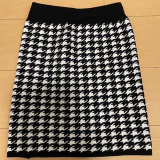 アンズ(ANZU)の千鳥柄ニットスカート(ミニスカート)