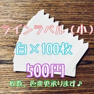 ◎ 100枚 ◎ 白 ( 小 ) ラインラベル 園芸ラベル カラーラベル(プランター)