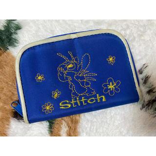 スティッチ(STITCH)のスティッチ  青 子ども 財布(キャラクターグッズ)
