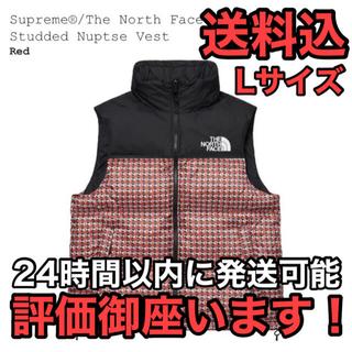 シュプリーム(Supreme)の送料込 赤L Supreme TheNorthFace Nuptse Vest(ダウンベスト)