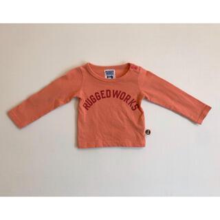 ラゲッドワークス(RUGGEDWORKS)のRUGGETWORKS ベビー服 長袖Tシャツ オレンジ 70 男の子 女の子(Tシャツ)