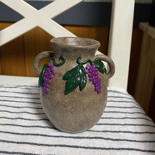 アンソロポロジー(Anthropologie)のぶどう 花瓶 ハンドメイド 陶芸(花瓶)
