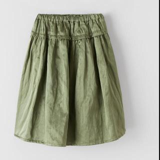 ザラ(ZARA)のザラ サテンスカート 164(スカート)
