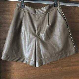 シマムラ(しまむら)のショートパンツ ハーフパンツ 2pink 合皮 キュロットパンツ(キュロット)
