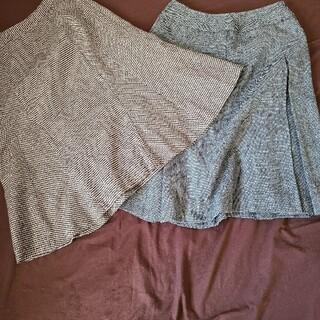 スカート2枚セット(ひざ丈スカート)