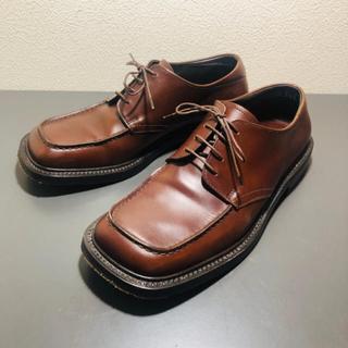 プラダ(PRADA)の希少 レア PRADA square toe shoes / brown(その他)