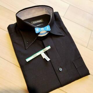 ユーピーレノマ(U.P renoma)の黒メンズシャツ スリムフィット クリーニング済(シャツ)