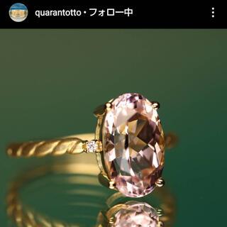 クアラントット❤️18金+クンツァイト3.22ctクアラントット12号(リング(指輪))