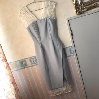 ラグナムーン(LagunaMoon)のラグナムーン LADYレースレイヤードタイトドレス(ロングドレス)