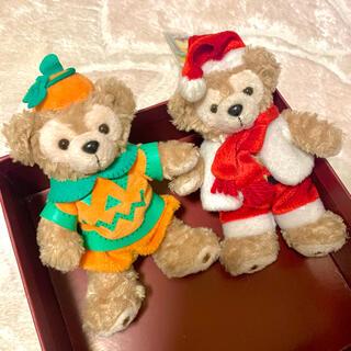 ダッフィー(ダッフィー)のハロウィン クリスマス 2010 ぬいぐるみバッチ セット(キャラクターグッズ)